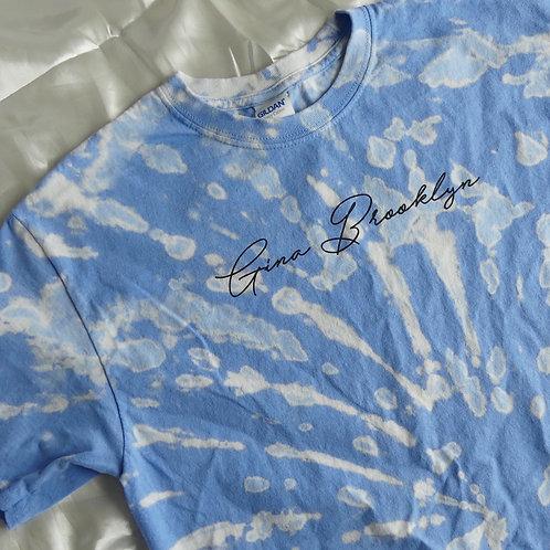 GB Periwinkle Blue Reverse Tie Dye Tee