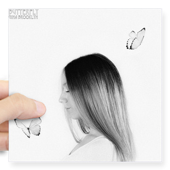 """Butterfly"" Single Cover Sticker"