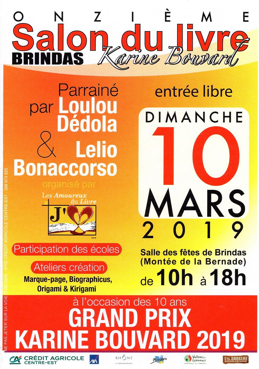 Salon du livre de Brindas - dimanche 10 mars 2019