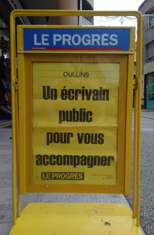 écrivain public à Oullins