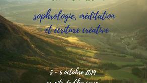 Ateliers d'écriture : weekend en Drôme, 5-6 octobre