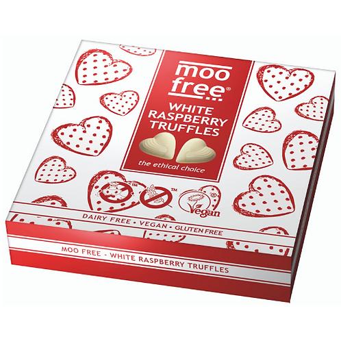 Moo Free Málnás Trüffel Fehér csokoládé bevonattal 108g