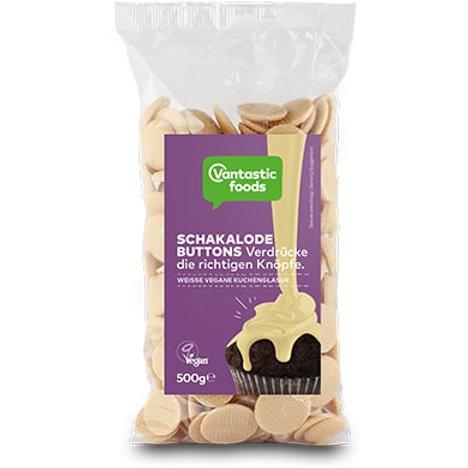 Vantastic foods Fehér csokoládé gombok 500g