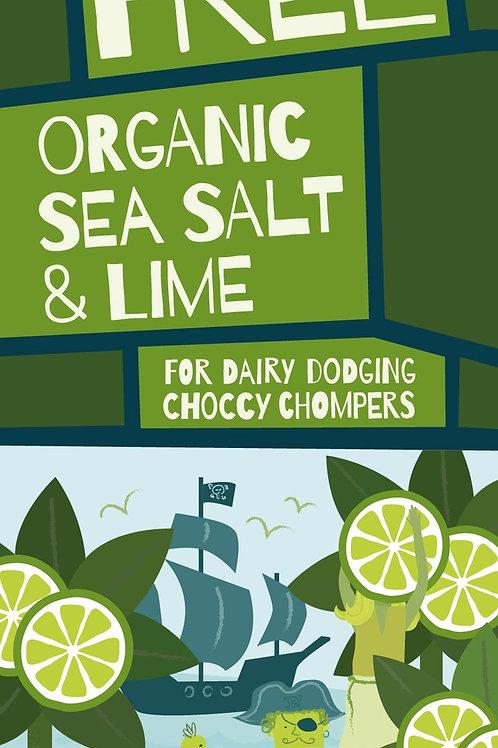 Moo Free Prémium tengeri só-lime táblás csokoládé 80g