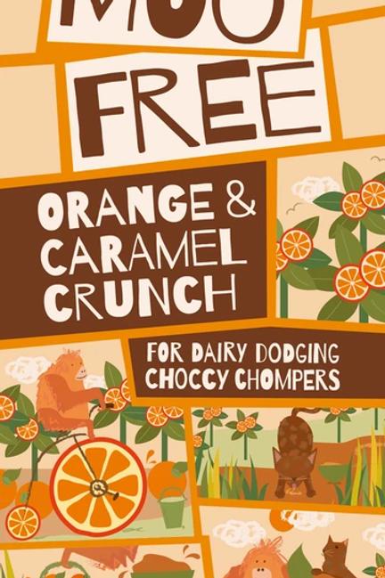 Moo Free Ropogós Narancs és Karamell tábla 80g