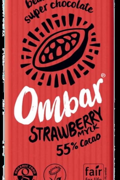 Ombar Eper ízesítés 55% kakaótartalmú tejcsokoládé szelet 35g