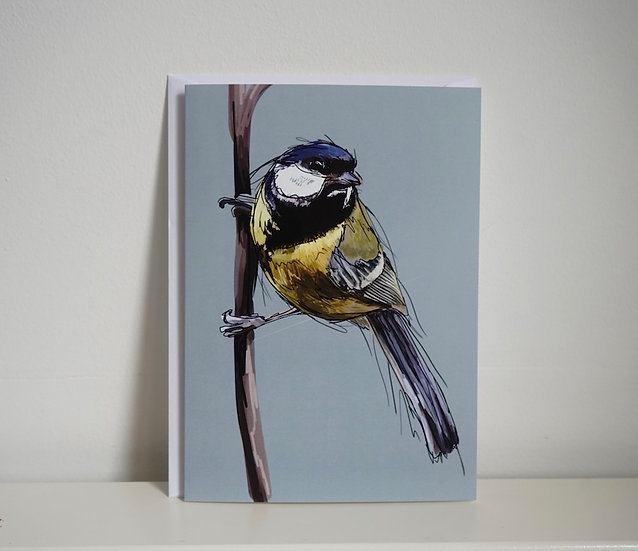 My Perch - Great Tit Card