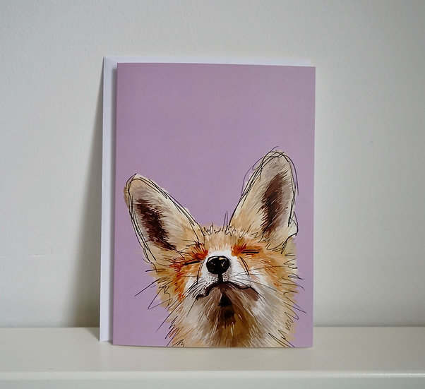 A Little Smile Goes A Long Way - Fox Greetings Card