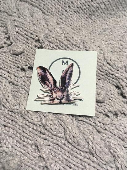 Hare Pin Badge