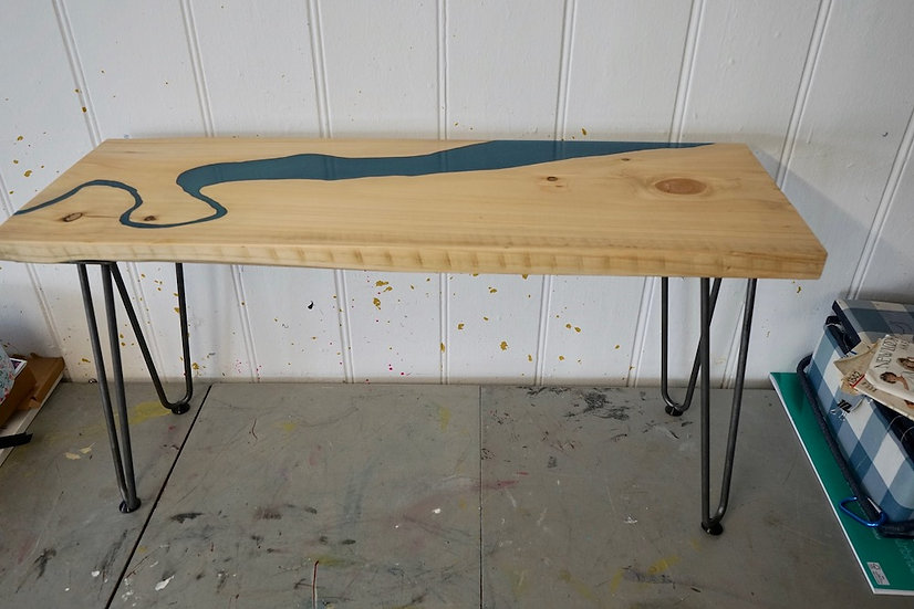 River Severn River Resin and Wood Table