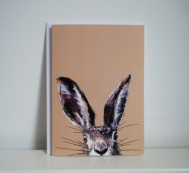 Hop On Up - Hare Greetings Card