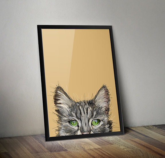 Kitty Cat - Cat giclée prints
