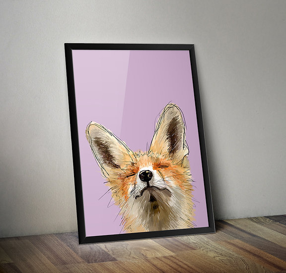 Make Me Smile - Fox giclée prints.