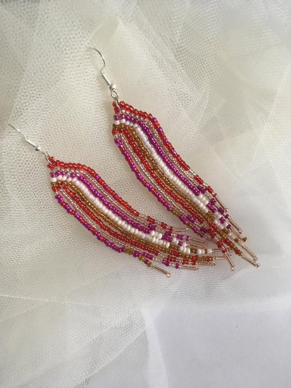 Beaded Carnival Drop Earrings