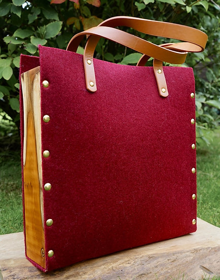 Pokets & Co.  Burgundy Tote Bag