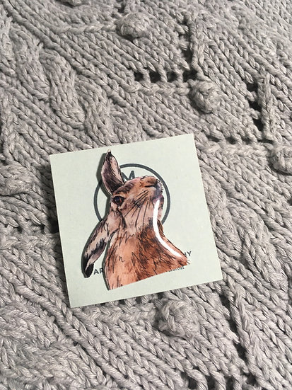 Hare Pin Badge