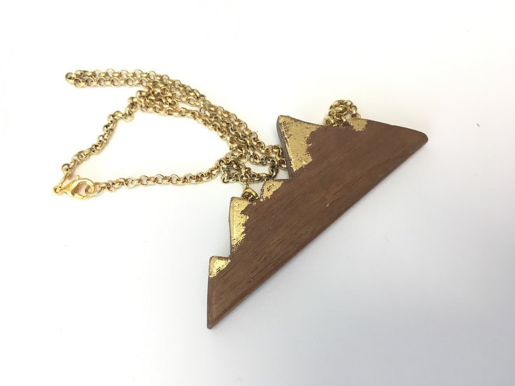 Mountains High - Hand Carved Walnut Necklace