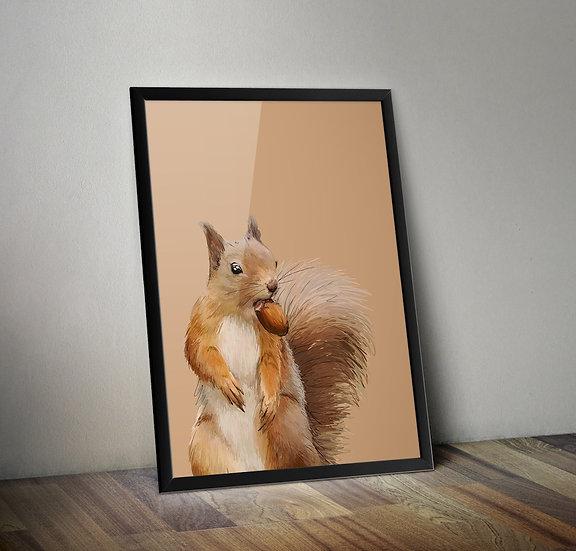 Squirrel Giclée Prints