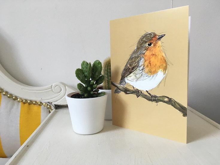 Rocky Robin - Robin Greetings Card