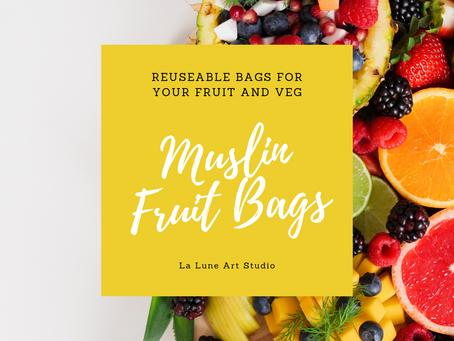 Re-usable Muslin Fruit and Veg Bags