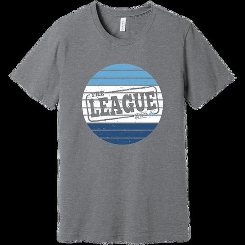 Grey Striped Logo T-Shirt