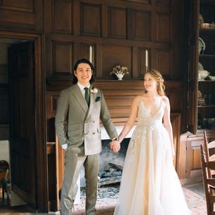 Ben + Kate inside Historic Rock Castle.