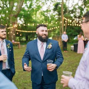 Supportive groomsmen
