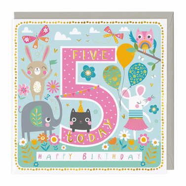 5 Today Animal Party Children's Birthday