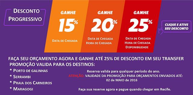 Promoção Transfer Porto de Galinhas