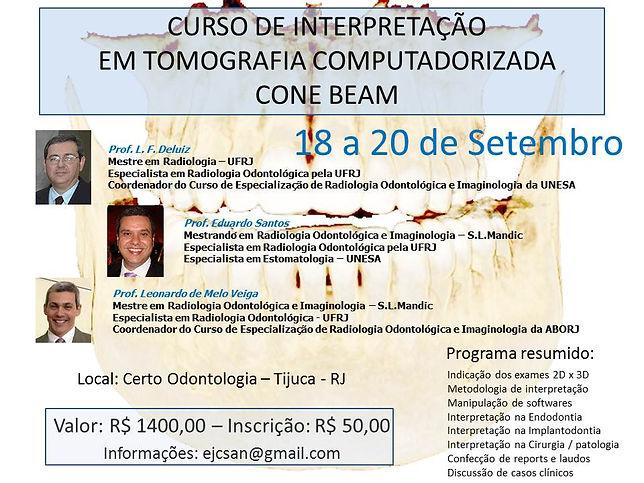 Curso de Interpretação em Tomografia Computadorizada Cone Beam
