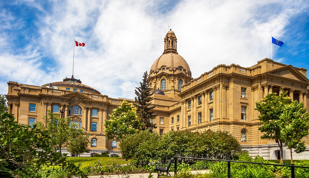 Legislature Building in Edmonton, AB