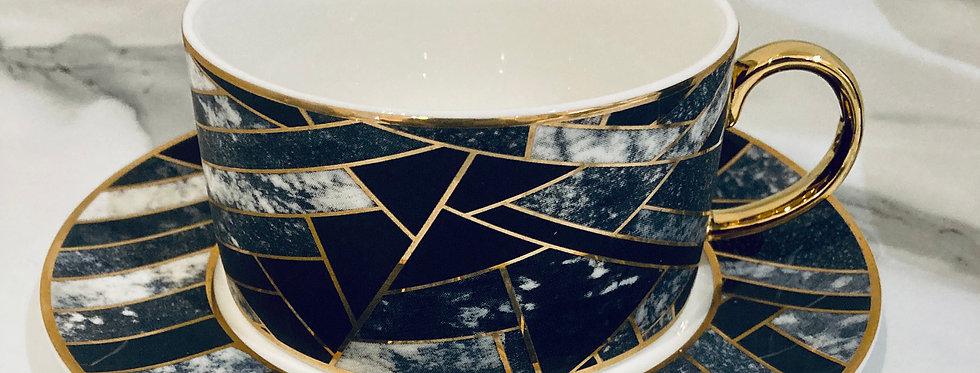 Marble & Gold teacup set