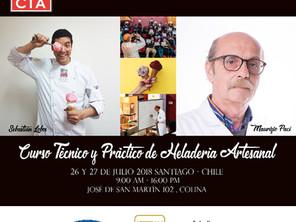 Curso de Heladería Artesanal 26 y 27 de Julio 2018