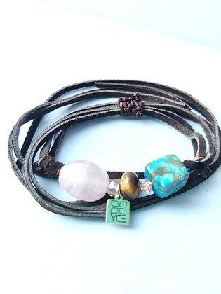 3 Stone Wrap Bracelet/Necklace
