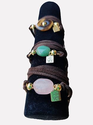 Stones + Suede Wrap Bracelet/Necklace