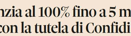 In arrivo liquidità per le imprese con garanzia dello stato fino al 25% del fatturato