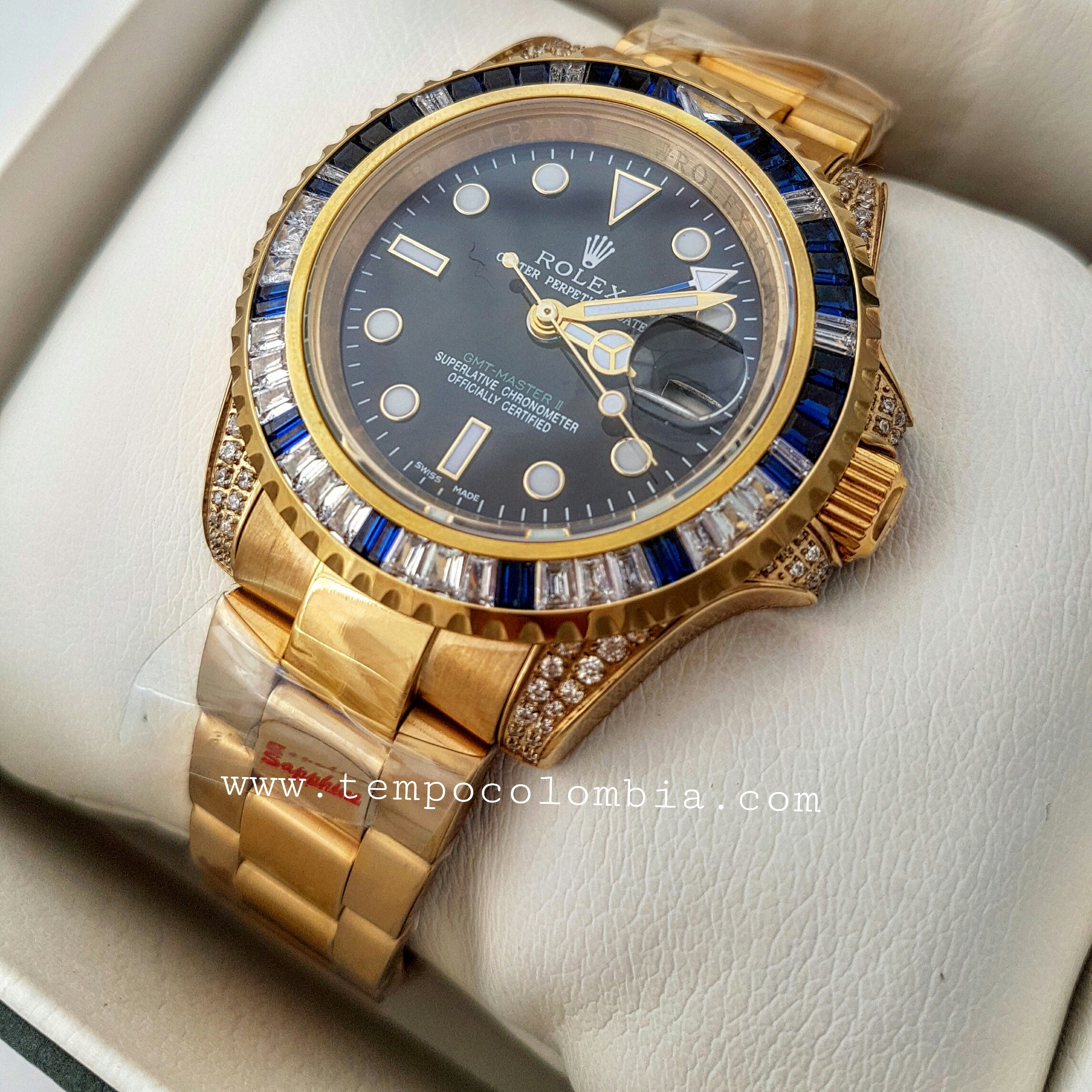 GMT  ROLEX DE LUJO DIAMANTES