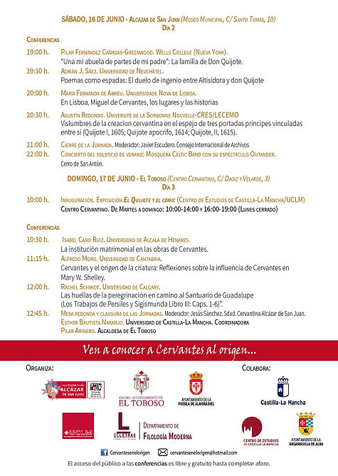 Folleto II Congreso Internacional Cervan