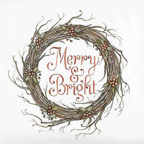 """""""Wood Wreath: Burgundy berries"""""""