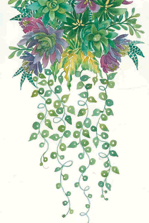 """Succulent Spray: Green & Purple""."