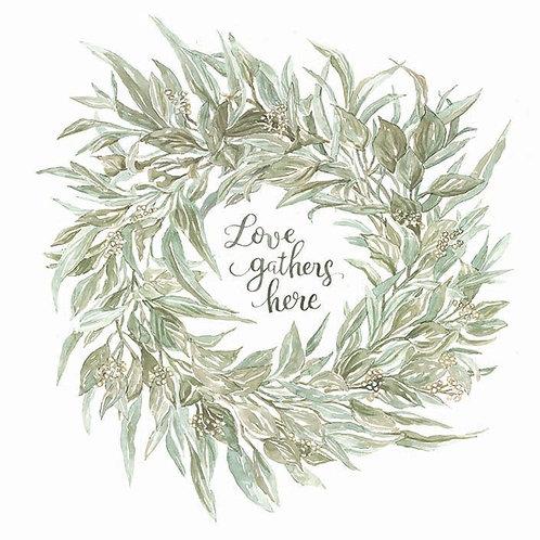 Sage Wreath- Love gathers here