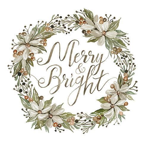 "Woodland Wreath ""Merry & Bright"""