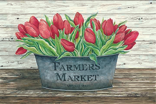 """""""Farmers Market-Red Tulips"""""""