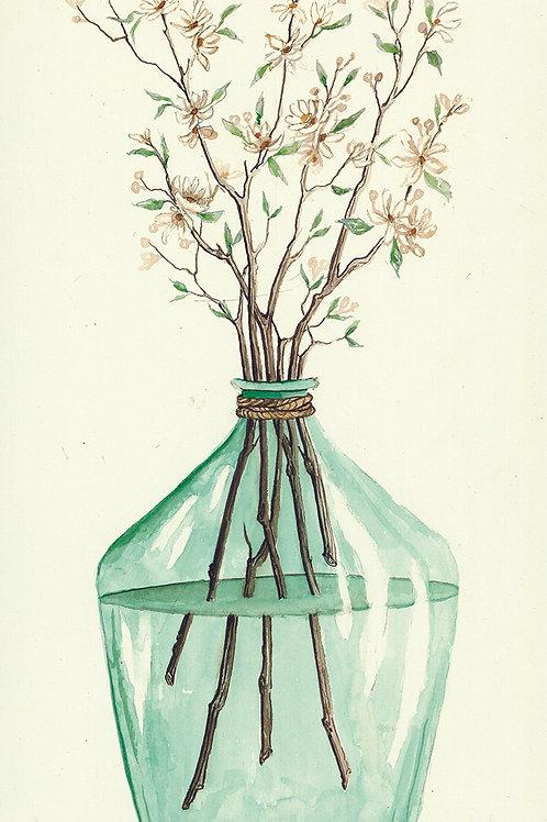 Glass Jar Seasons-Spring