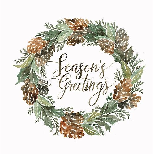 "Woodland Wreath ""Season's Greetings"""
