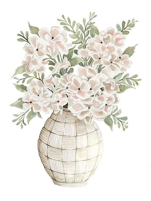 """Hydrangea in Basket Vase"""