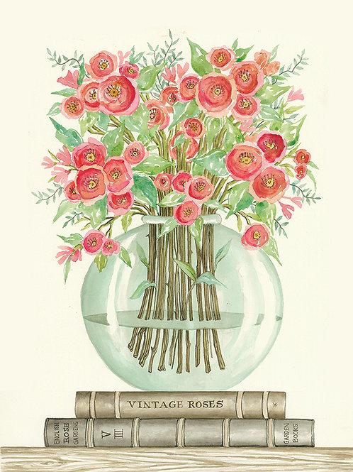 Books & Vases-Ranunculus