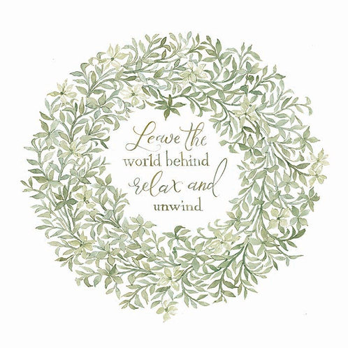 Sage Wreath- Leave the world behind relax and unwind