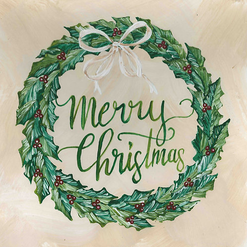 """Merry Christmas"" Greenery Wreath"