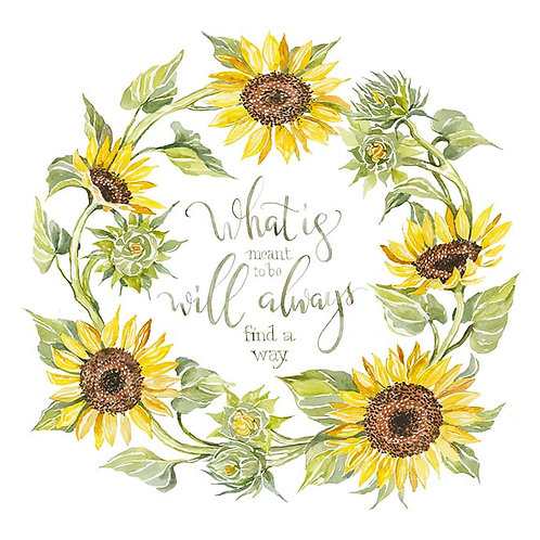 Sunflower Wreath- What is meant to be will always find a way